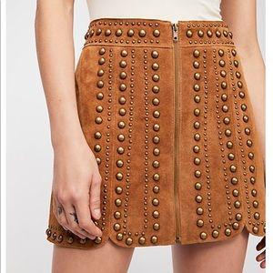 Free People suede mini skirt! NWT!